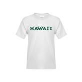 Youth White T Shirt-University Of Hawaii