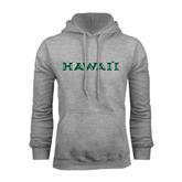Grey Fleece Hoodie-Hawaii
