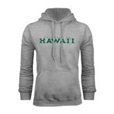 Grey Fleece Hoodie-University Of Hawaii