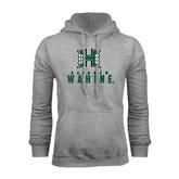 Grey Fleece Hoodie-Stacked Rainbow Wahine