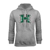 Grey Fleece Hoodie-Official Logo Distressed
