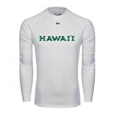 Under Armour White Long Sleeve Tech Tee-Hawaii