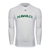 Under Armour White Long Sleeve Tech Tee-Hawaii Arch