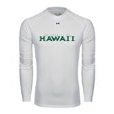 Under Armour White Long Sleeve Tech Tee-University Of Hawaii