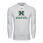 Under Armour White Long Sleeve Tech Tee-Stacked Rainbow Warriors