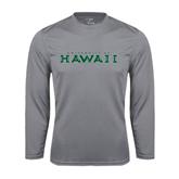 Performance Steel Longsleeve Shirt-University Of Hawaii