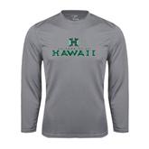 Performance Steel Longsleeve Shirt-Stacked University of Hawaii