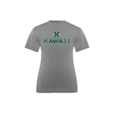 Youth Syntrel Performance Steel Training Tee-Stacked University of Hawaii