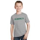 Youth Grey T-Shirt-University Of Hawaii