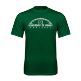 Performance Dark Green Tee-Football Arched