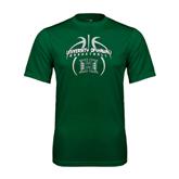 Performance Dark Green Tee-Basketball In Ball