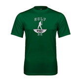 Performance Dark Green Tee-Golf Arched With Player