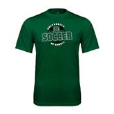 Performance Dark Green Tee-Soccer Circle