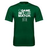 Performance Dark Green Tee-Tennis Game Set Match