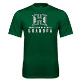 Performance Dark Green Tee-Grandpa