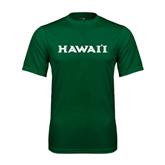 Performance Dark Green Tee-Hawaii