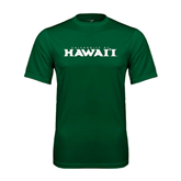 Performance Dark Green Tee-University Of Hawaii