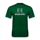 Performance Dark Green Tee-Stacked Rainbow Warriors