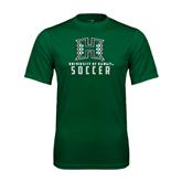 Performance Dark Green Tee-Soccer