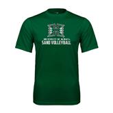 Performance Dark Green Tee-Sand Volleyball