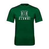 Performance Dark Green Tee-Alumni