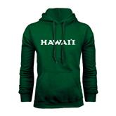 Dark Green Fleece Hood-Hawaii