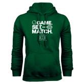 Dark Green Fleece Hood-Tennis Game Set Match