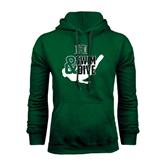 Dark Green Fleece Hood-Swim and Dive Swimmer