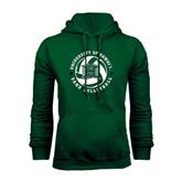 Dark Green Fleece Hood-Volleyball Ball w/ Stars