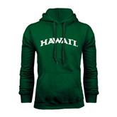 Dark Green Fleece Hood-Hawaii Arch