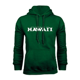 Dark Green Fleece Hood-University Of Hawaii