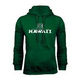 Dark Green Fleece Hood-Stacked University of Hawaii
