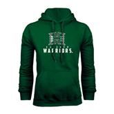 Dark Green Fleece Hood-Stacked Rainbow Warriors