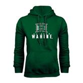 Dark Green Fleece Hood-Stacked Rainbow Wahine