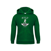 Youth Dark Green Fleece Hoodie-Golf Arched With Player