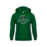Youth Dark Green Fleece Hoodie-Soccer Circle