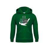 Youth Dark Green Fleece Hoodie-Swim and Dive Swimmer