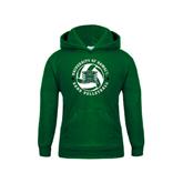Youth Dark Green Fleece Hoodie-Volleyball Ball w/ Stars