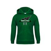 Youth Dark Green Fleece Hoodie-Track & Field Side Shoe