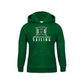 Youth Dark Green Fleece Hoodie-Sailing