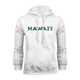 White Fleece Hoodie-Hawaii