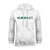 White Fleece Hoodie-University Of Hawaii