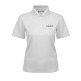 Ladies White Dry Mesh Polo-Hawaii