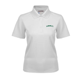 Ladies White Dry Mesh Polo-Hawaii Arch