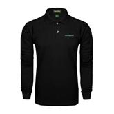 Black Long Sleeve Polo-Hawaii