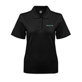 Ladies Easycare Black Pique Polo-Hawaii