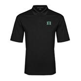 Black Performance Fine Jacquard Polo-Official Logo