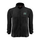 Fleece Full Zip Black Jacket-Official Logo