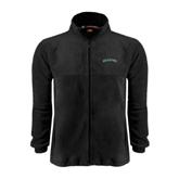 Fleece Full Zip Black Jacket-Hawaii Arch