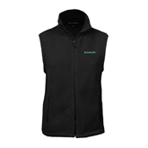 Fleece Full Zip Black Vest-Hawaii
